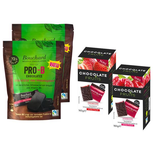 Chocolate Fruits 1xHimbeer und 1xErdbeer + 2x Pro B