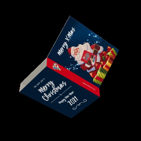 Grußkartenbanderole im Weihnachtsdesign