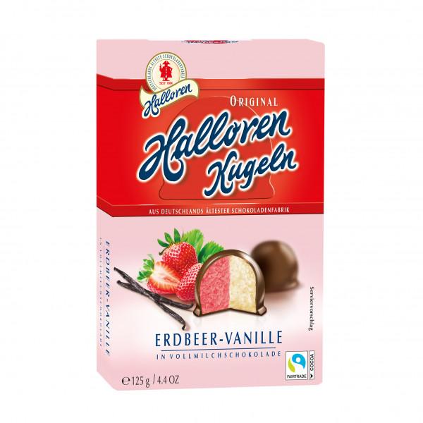 Erdbeer-Vanille Original Halloren Kugeln