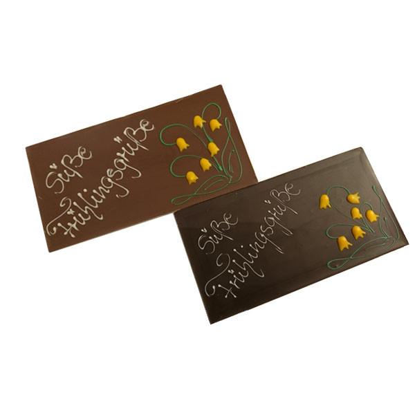 "Handgefertigte Schokoladentafel ""Süße Frühlingsgrüße"""