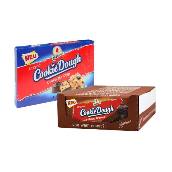 19x Cookie Dough Half-Baked Brownie Tafel + 1x Chocolate Chip Pralinen