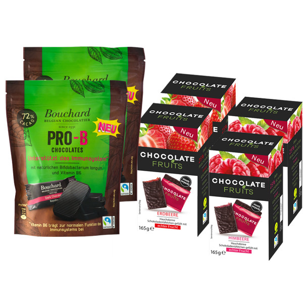 Chocolate Fruits 2xHimbeer und 2xErdbeer + 2x Pro B