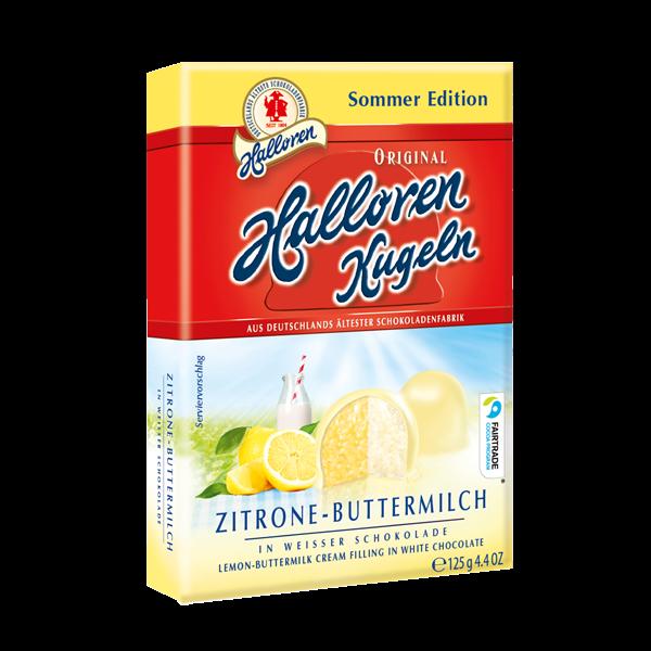 Sommersorte -Nur für kurze Zeit! Zitrone-Buttermilch Original Halloren Kugeln